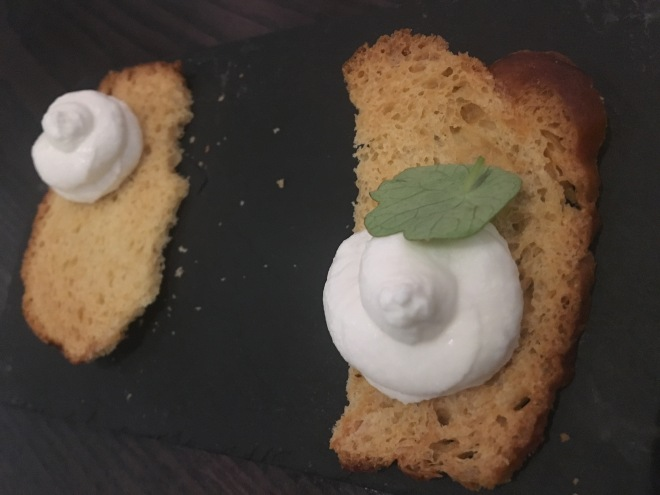 Smoked Goats Cheese Mousse | M Victoria Street | London